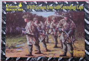 Caesar Miniatures 1/72 CMHB04 German Infantry in Camouflage Cape (WW2)